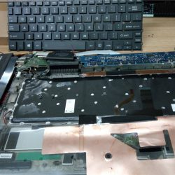 Toshiba Kirabook Touch with battery and keyboard removed