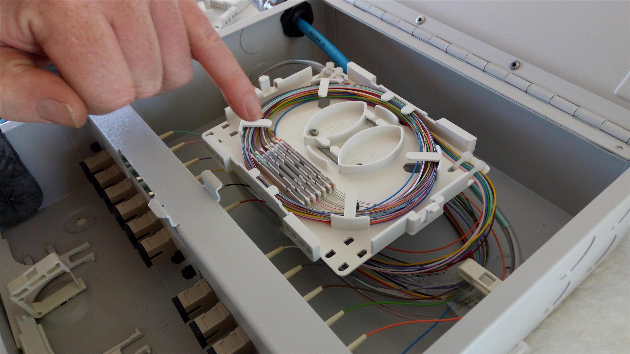 Solar farm - Fibre Optic Splicing